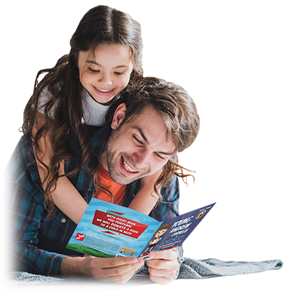 Father and Daughter Reading Young Series Bilingual Children's Book